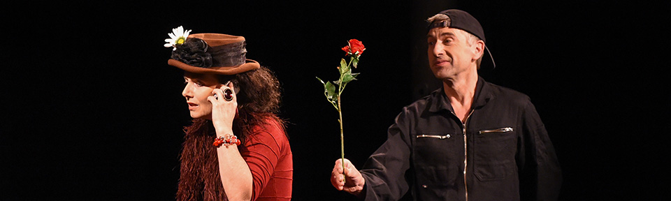 Szene aus Probelieben - ein Stück von und mit Anne von der Vring
